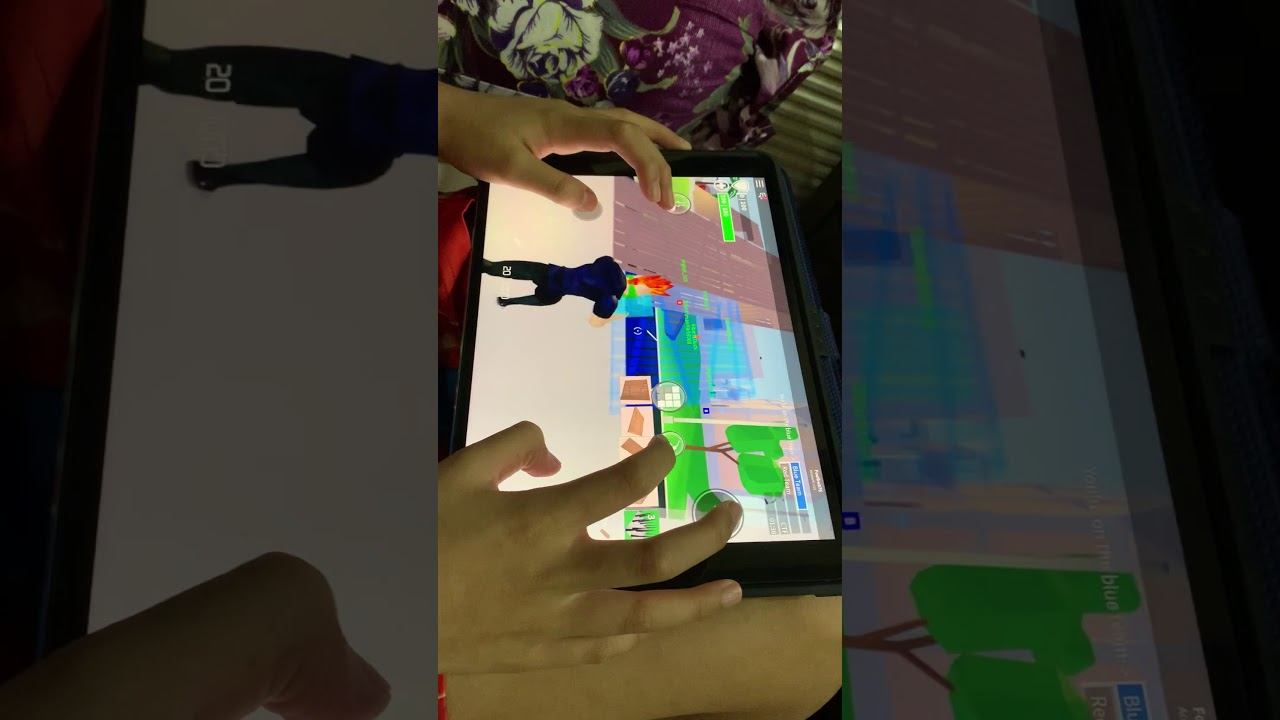 Playing strucid on iPad - YouTube