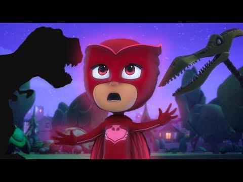 PJ Masks Full Episodes - Jurassic Dinosaur Park - Cartoons for Children