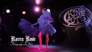 black widow burlesque classics unlaced raven rose rhapsody in blue