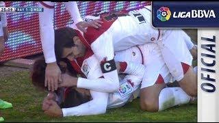 Golazo de Iago Falqué (1-0) en el Rayo Vallecano - Málaga CF
