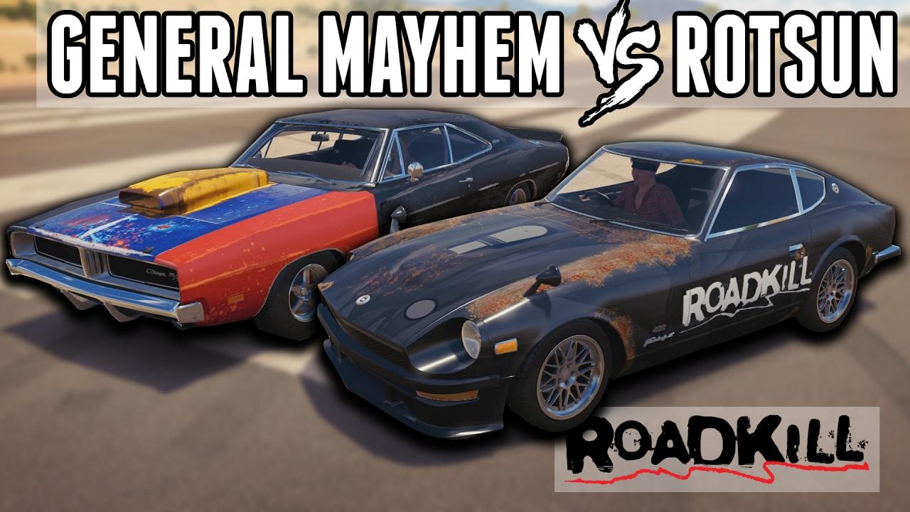 Road Kill Cars >> General Mayhem VS Rotsun - Roadkill Car Shootout!    Forza Horizon 3 - YouTube