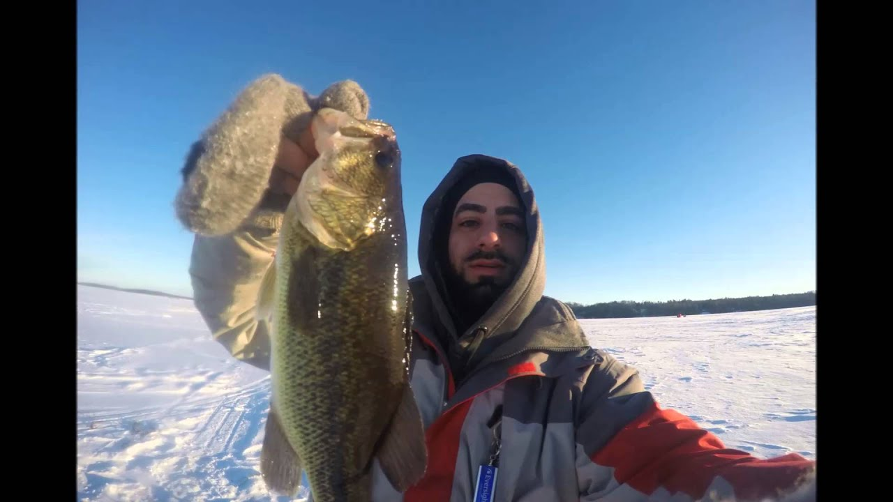 December 2015 ice fishing trip wisconsin youtube for Wisconsin out of state fishing license