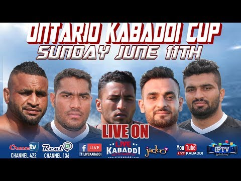 LIVE -2017 Canada Kabaddi - Ontario Kabaddi Cup