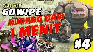 vuclip SERANGAN TERCEPAT! - GOWIPE di WAR episode 4  - Clash of Clans INDONESIA
