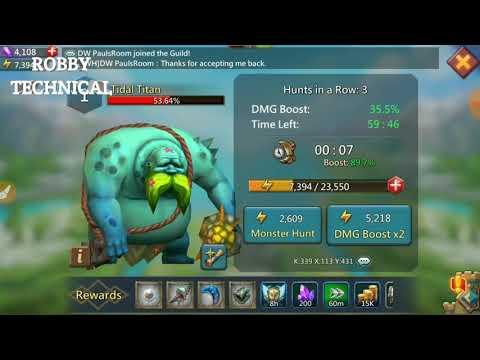 Lord's Mobile Game In Level 1 Monster Kill (Tidal Titan)