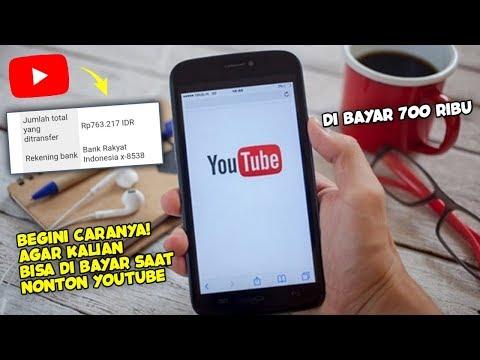 Dibayar $900 Hanya Click Video YouTube CARA MENDAPATKAN UANG DARI INTERNET TERCEPAT PayPerWatch.