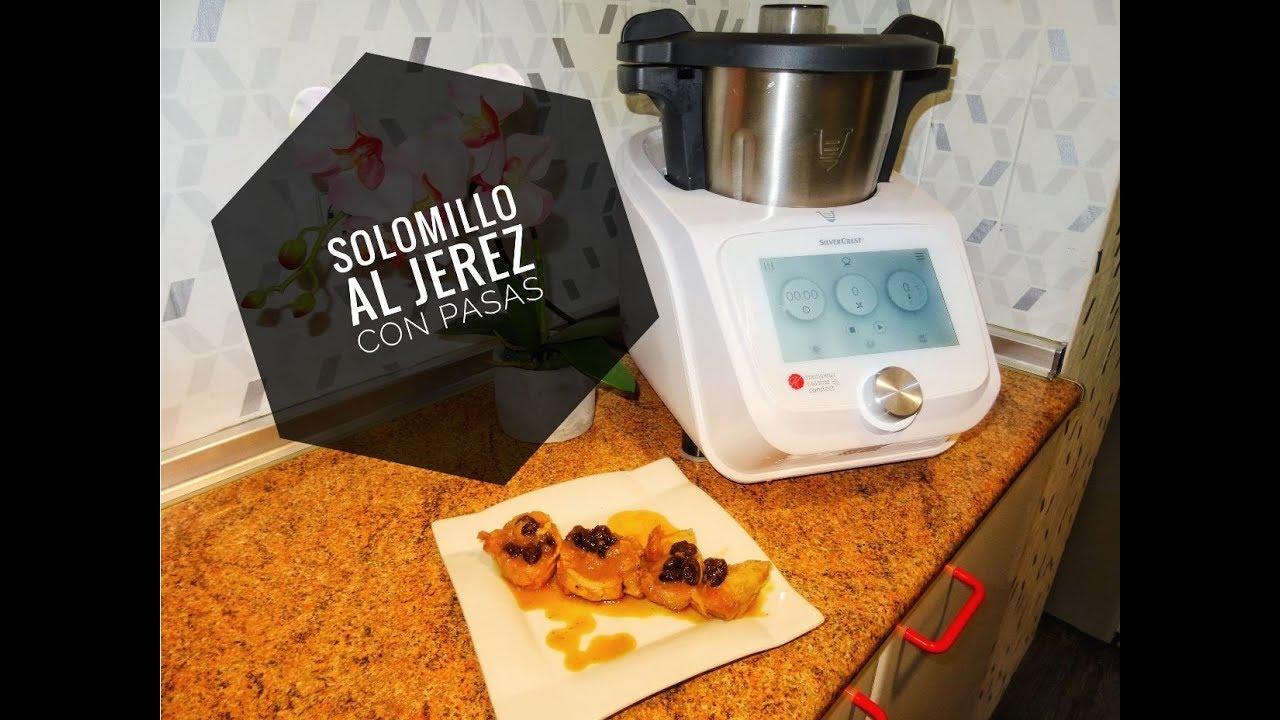 Receta de Solomillo al Jerez con pasas Monsieur Cuisine Connect Lidl Silvercrest