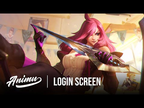 Katarina Battle Academia | League Of Legends Login Screen - Animu
