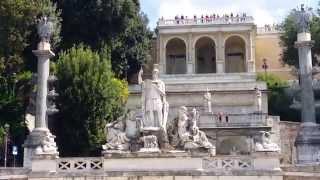 РИМ  ИТАЛИЯ  ДОСТОПРИМЕЧАТЕЛЬНОСТИ  Площадь  ПОПОЛО      Piazza del Popolo