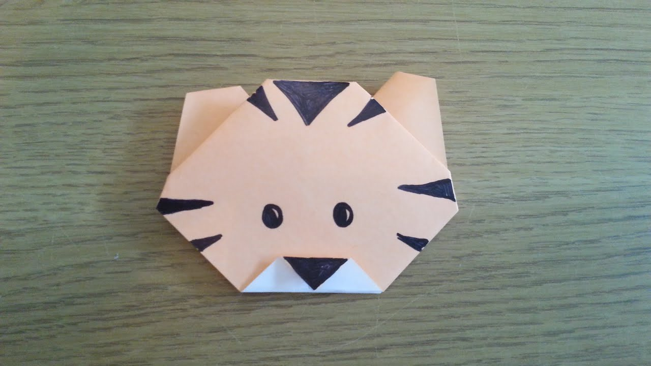 Papercraft How To Make A Simple Origami Tiger