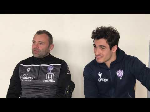 Adrien Buononato et Iban Etcheverry | Point presse avant SAXV RC Vannes