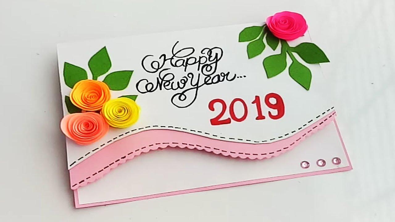 how to make new year card  handmade new year card idea