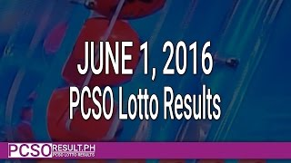 PCSO Lotto Results June 1, 2016 (6/55, 6/45, 4D, Swertres & EZ2)