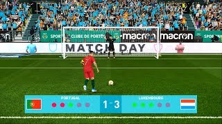 PES 2020 | Portugal vs Luxembourg | Penalty Shootout | EURO 2020 | Gameplay PC
