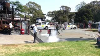 Muster Single nozzle JET A1 Fuel Tray demo