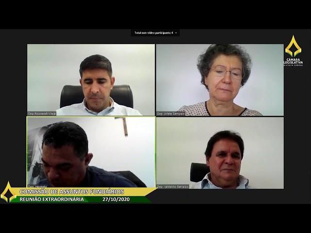 Reunião Extraordinária Remota da Comissão de Assuntos Fundiários - 27/10/2020