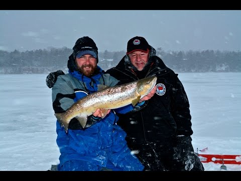 Chequamegon Bay Ice Fishing Trout (Tip Up Trout)