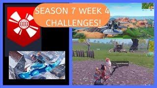 How To Complete ALL WEEK 4 CHALLENGES In Season 7 of Fortnite!!! + Week 4 Secret Banner Location