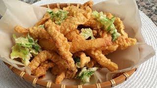 Fried dried squid (Ojingeo-twigim: 오징어튀김)