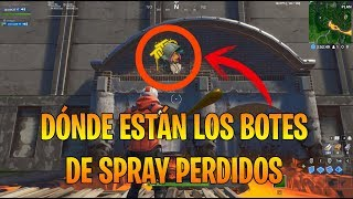 LOCATION SPRAY BOTE SLOS LOST FORTNITE CHALLENGES SEASON X - Jaivan28