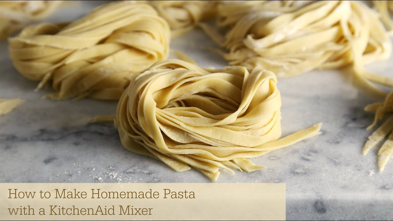 kitchen aid pasta attachments corner tables how to make homemade with a kitchenaid mixer - youtube