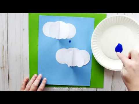 3-D Rain Clouds Craft For Kids