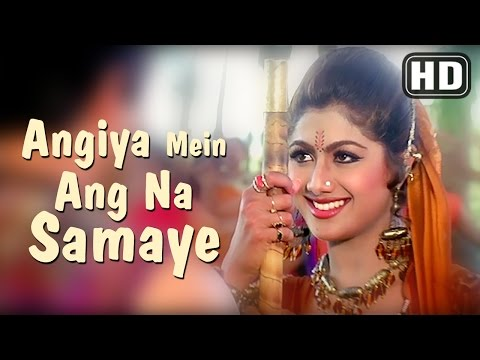 Angiya Mein Ang Na - Aag (1994) - Govinda - Shilpa Shetty - Poornima - 90s super-hit Bollywood Songs