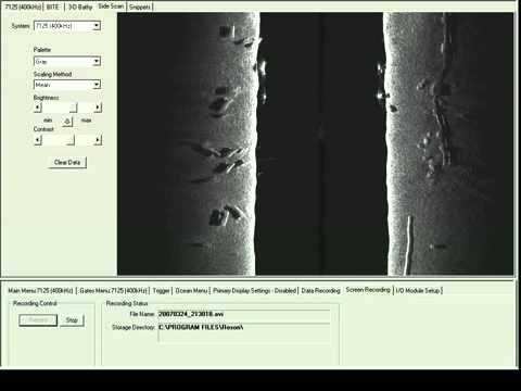 RESON SeaBat 7125 multibeam sonar survey - side scan 400kHz