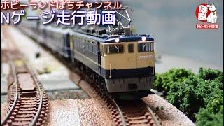 Nゲージ走行動画 TOMIX 7154 JR EF65-1000形電気機関車(前期型・田端運転所) +98743 JR 14・50系客車(八甲田・MOTOトレイン)【鉄道模型/ホビーランドぽち】