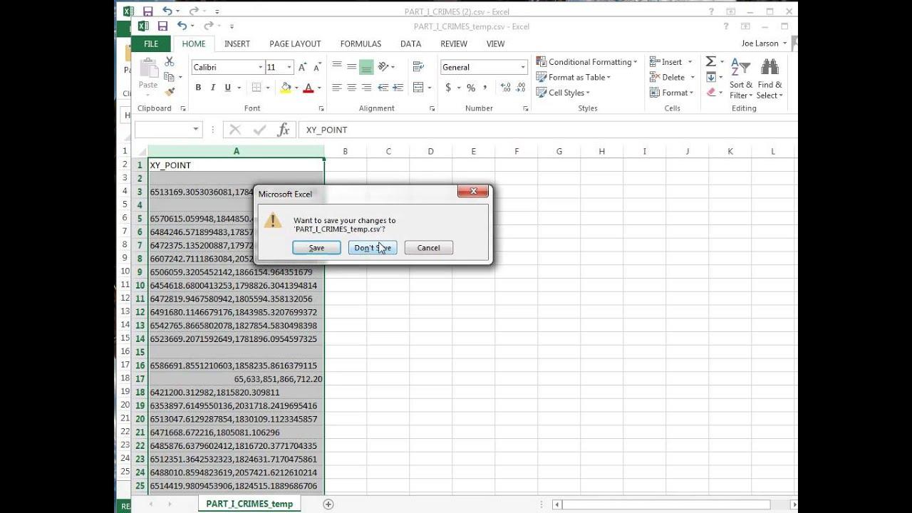 Splitting CSV column with X,Y coordinates