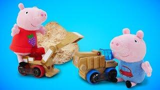 Фото Свинка Пеппа и Джордж играют в магазин. Мультики для малышей про Пеппу свинки разгромили магазин
