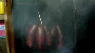 smoking liver sausages#3