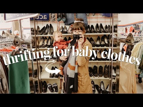 THRIFT WITH ME & MY TODDLER  + HUGE BABY CLOTHES HAUL WITH AVEENO