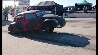 '69 VW 1300 with Audi 4.2 V8 engine from S8 D2 1/8mile drag race