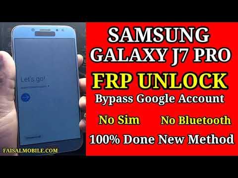 Samsung J7 Pro FRP Bypass Google Account Android 9 No Sim/No Bluetooth