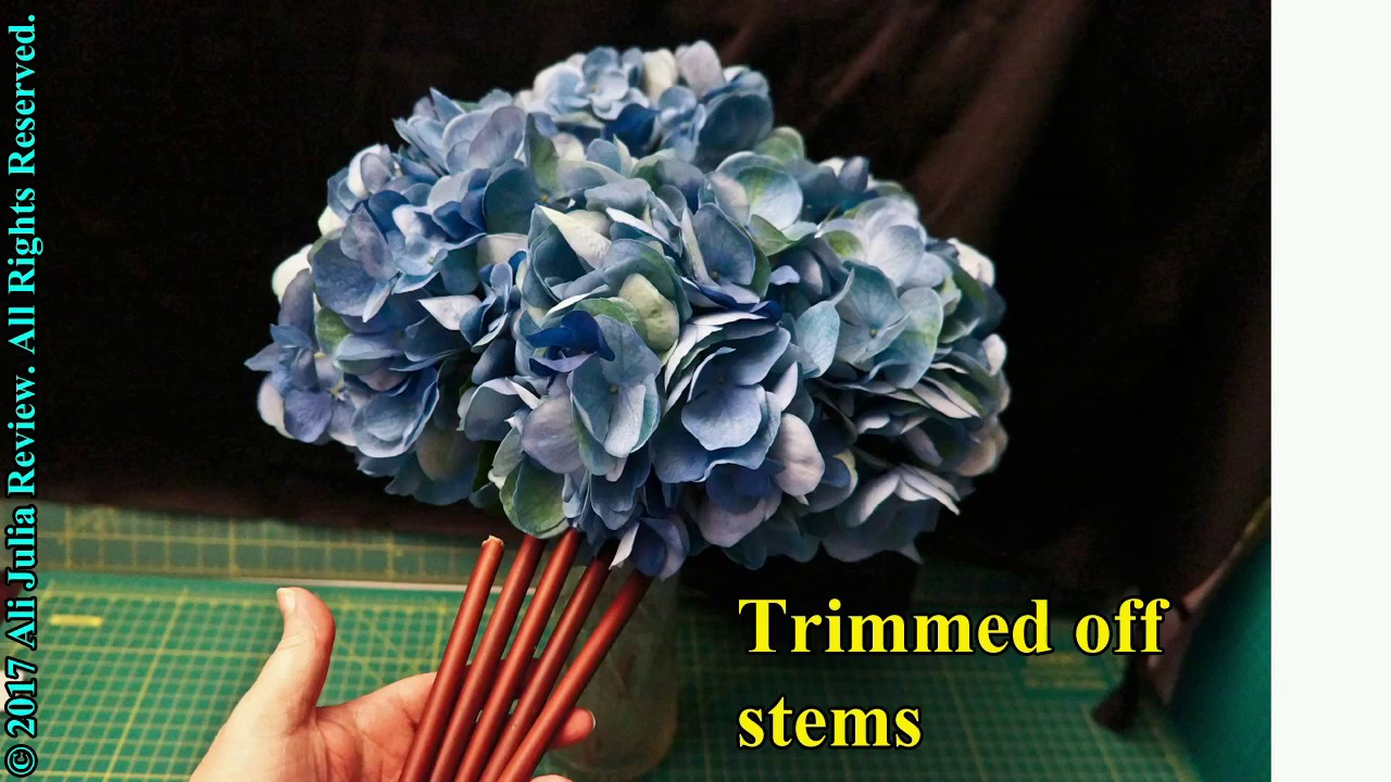 Rinlong artificial blue hydrangea silk flower youtube rinlong artificial blue hydrangea silk flower izmirmasajfo