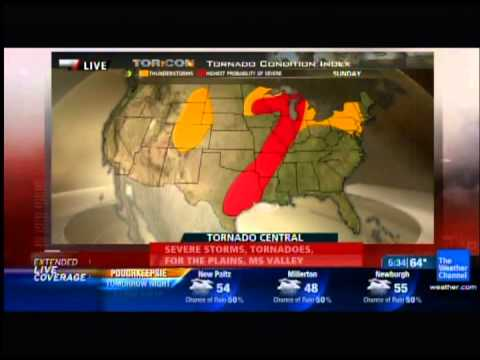 The Weather Channel - Norman Oklahoma Tornado Coverage 4/13/2012