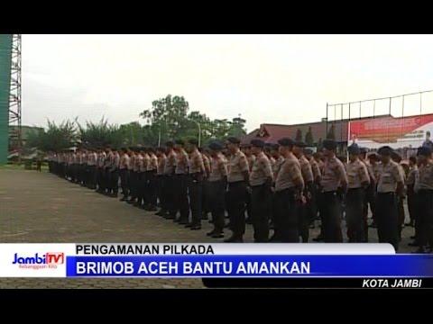 Brimob Aceh Bantu Amankan Pilkada Di Jambi