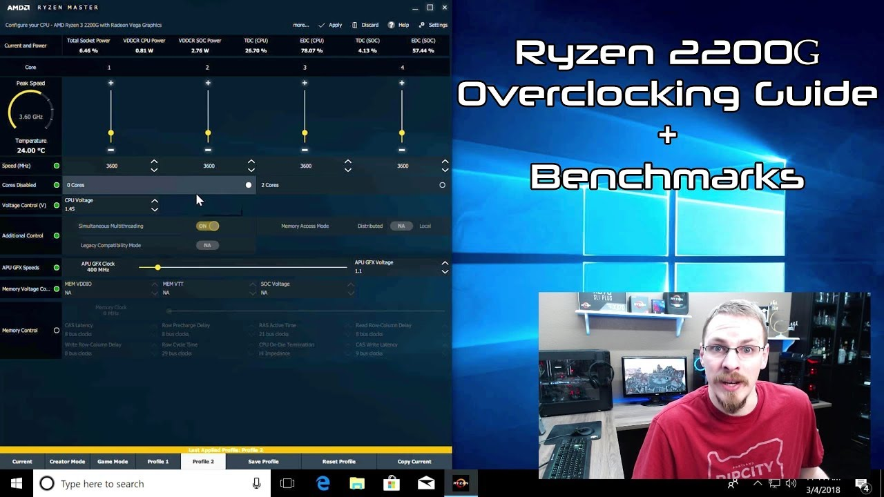 Adventures in Overclocking Ryzen 2200g - Lots of detail  Am I maxed