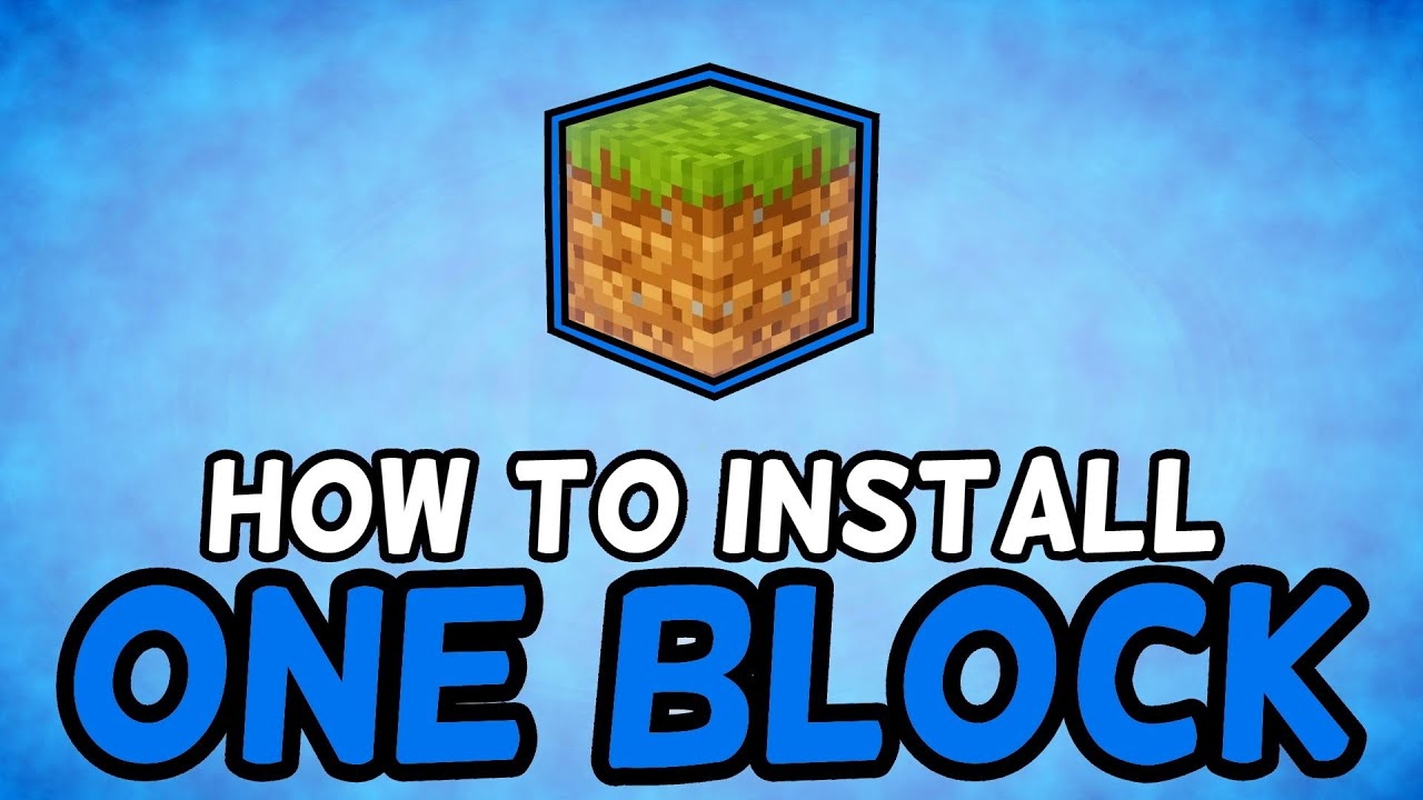 How To Install One Block Skyblock Map for Minecraft (1 15 ) YouTube