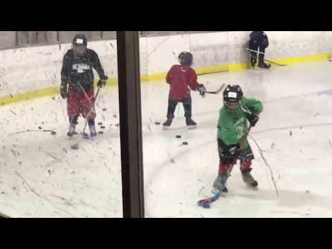 Hockey drill - Kids learning to play