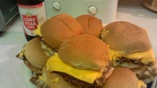 How to Make Imitation White Castle Burgers