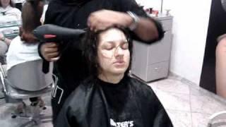 corte de cabelo camadas  com 4 tesourada...