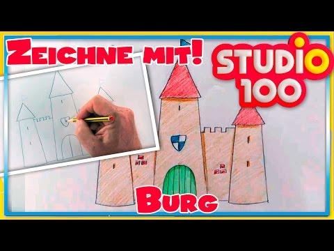 Burg – Zeichnen lernen für Anfänger – Schritt für Schritt!