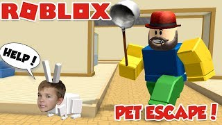 ESCAPE PET SHOP in ROBLOX / DON'T GET CAUGHT DA A GIANT NOOB!