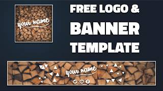 Free Youtube Banner and Logo Template | DRAGSTER
