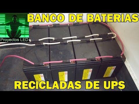 Banco de baterias 12v, recicladas de ups apc