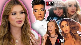 REACTING to YOUTUBERS COACHELLA MAKEUP LOOKS!