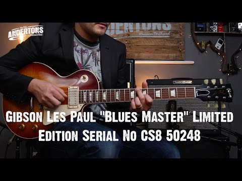 "Top shelf Guitars - Gibson Les Paul ""Blues Master"" Limited Edition Serial No CS8 50248"