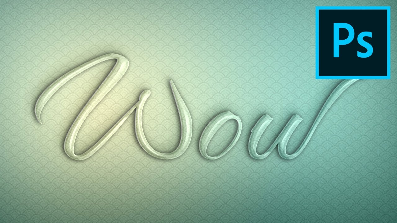 How To Create A Glass Text Effect In Photoshop Using Layer Styles